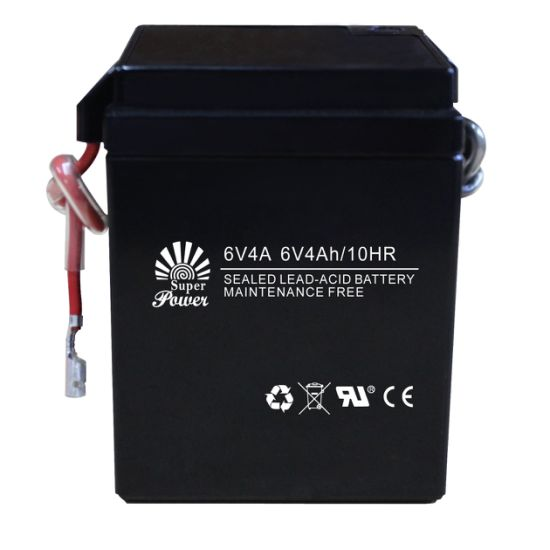 Sealed Maintenance Free Motorcycle Battery 6V 4Ah with CE UL certificate called 6V 4A