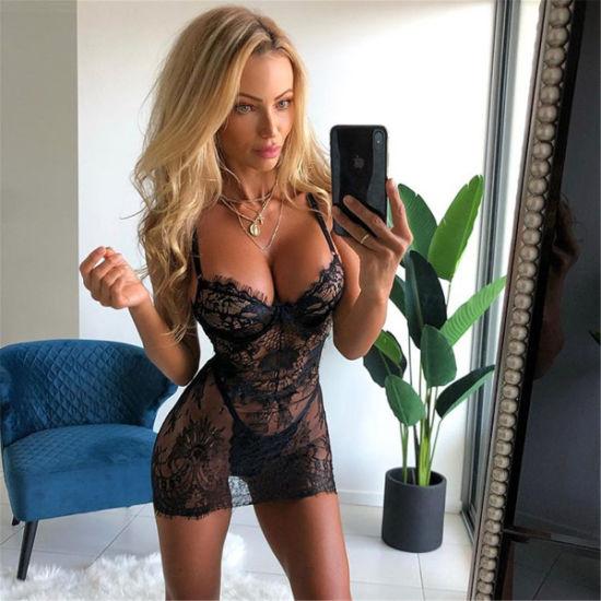 2019 Women's Sexy Lace Dress Sleepwear Ml6988