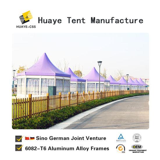 China Aluminum Frame Hexagon Display Hotel Resort Party Tent