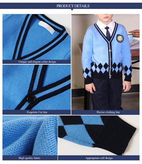 School Jumper Round Neck Sweater Boys Girls All Sizes Navy Blue Cotton Unisex