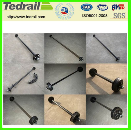 Widely Used Popular Rail Trailer Axle pictures & photos