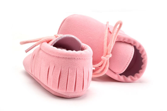 Wholesale Tassel Baby Shoes Soft Soles Lace-UPS Shoes Indoor Toddle Shoes pictures & photos