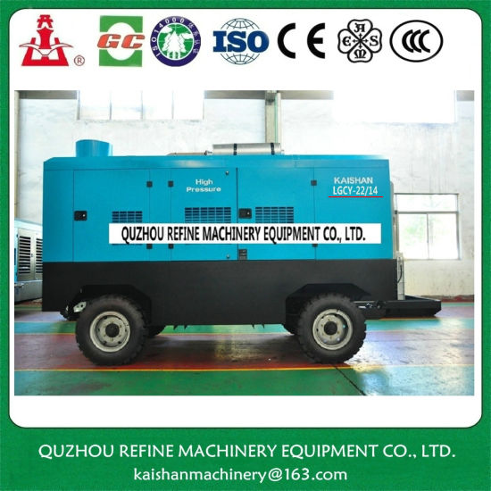 Kaishan LGCY-22/14 Diesel Portable Screw Air Embraco Compressor pictures & photos