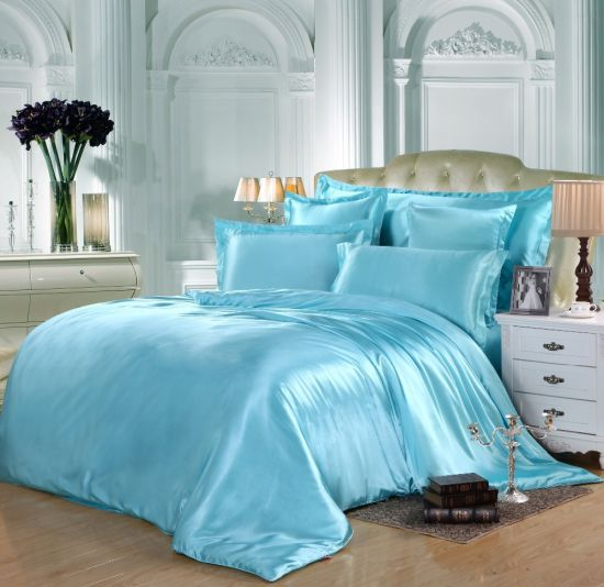 100% Mulberry Silk Duvet Cover Sets Silk Pillowcase Silk Silk Mulberry Bed Sheets pictures & photos