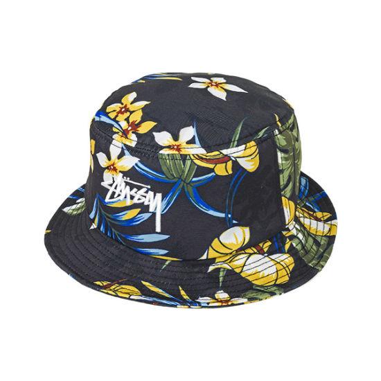 100% Cotton Custom Full Printed Pattern Bucket Hat