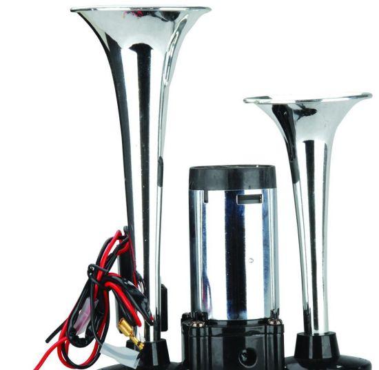 Three Roots Trumpet Chrome Air Pressure Horn, Truck Horn, Auto Parts