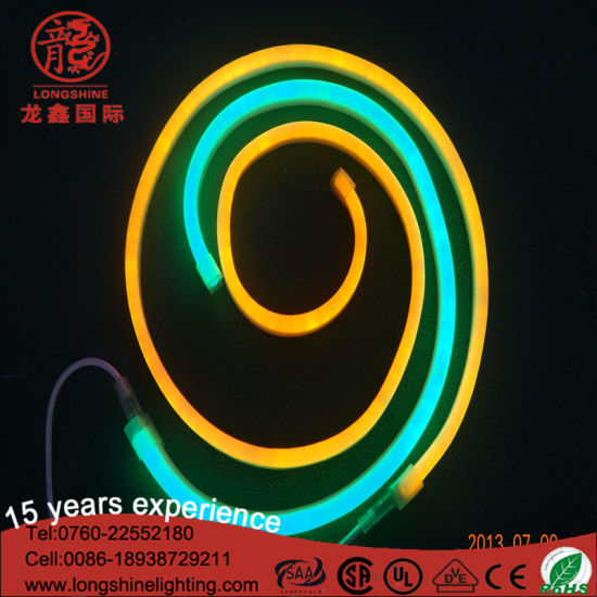 Color Changed White Flexible LED Decorative Neon Light 3825SMD