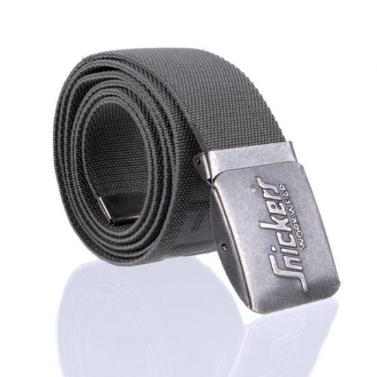 Elastic Webbing High Press Logo Military Buckle Workwear Belt (RS-12009WM)