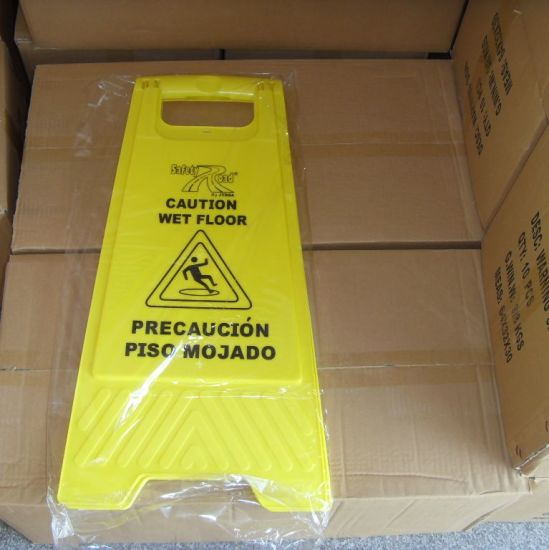 Foldable Caution Wet Floor Sign Plastic