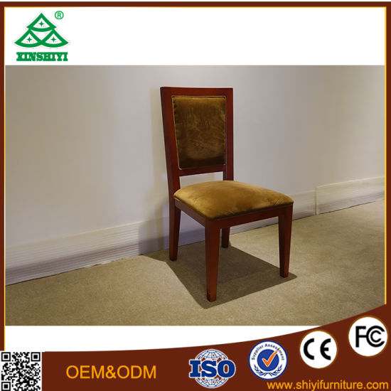 Simple Design Solid Wood Hotel Dining Chair pictures & photos