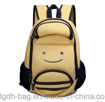 Carton Printed Students Neoprene Shoulder Reduce Stress Backpacks
