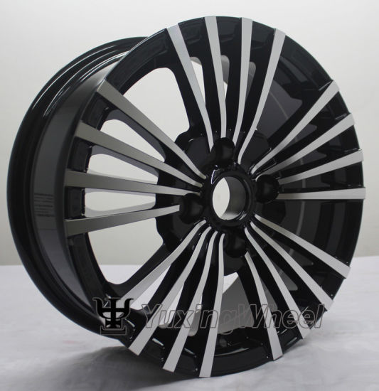 15 Inch 4X108 Alloy Wheels Black Face Polished Rims for Sale pictures & photos