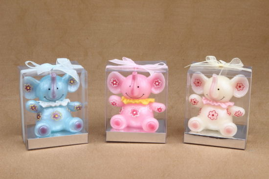 Hot Sale Elephant Animal Shaped Candle for Gifts