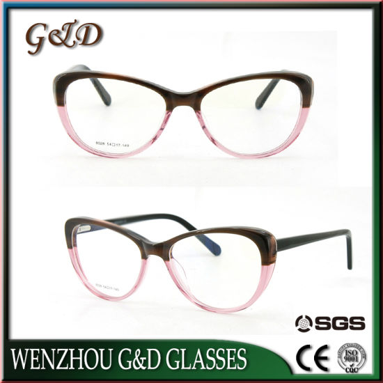 3564fa73aa6d Fashion Design Cat Eye Contrast Colored Women High Quality Wholesale  Acetate Optical Frame Boutique Eyewear pictures