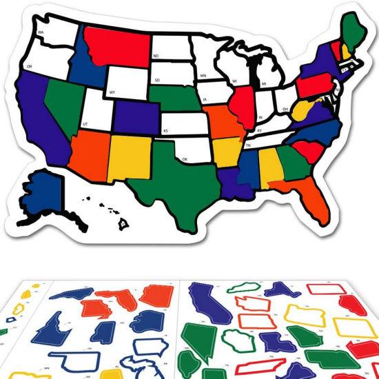 United States RV State Sticker Travel Map Window Stickers