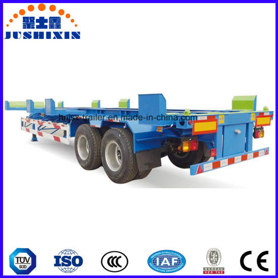 China Terminal Container Truck Frame Skeletal Port Semi Trailer ...