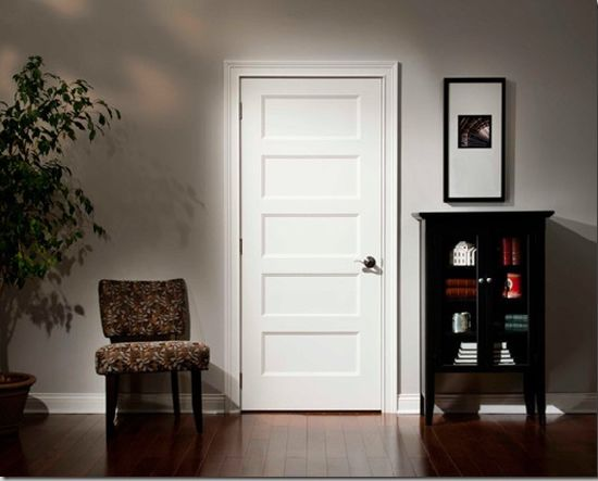 Traditional Style Doors White Primed Panel MDF Doors Interior