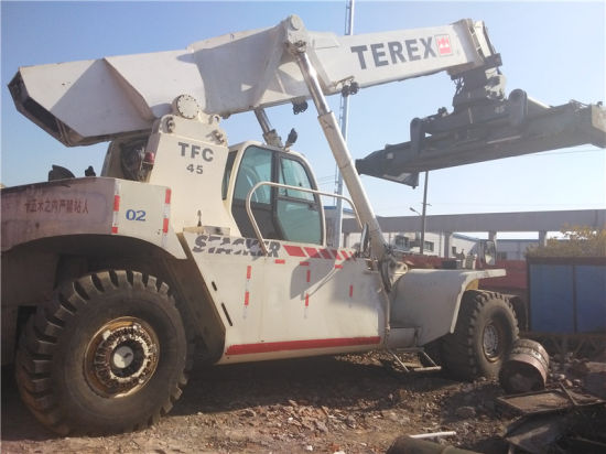 china used terex 45t reach stacker tfc45 china used reach stacker rh kaidao en made in china com Stacker Air Hydraulic Pallet Stacker