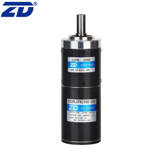 ZD Round Flange Brushless DC Eletric Precision Planetary Gear Motor With Speed Controller