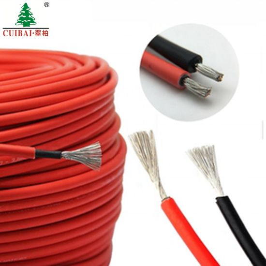 PV1-F TUV Approved 600/1000V DC PV Solar Cable 4mm 6mm