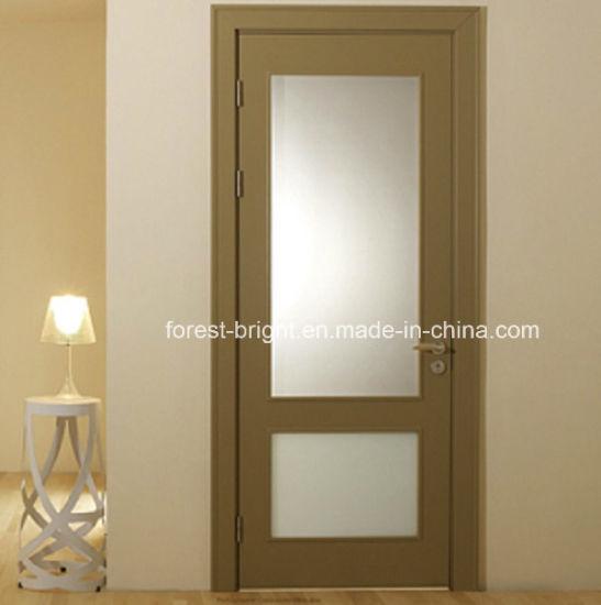 China Veneer Mdf Glass Insert Wood Interior Door China Veneer Door