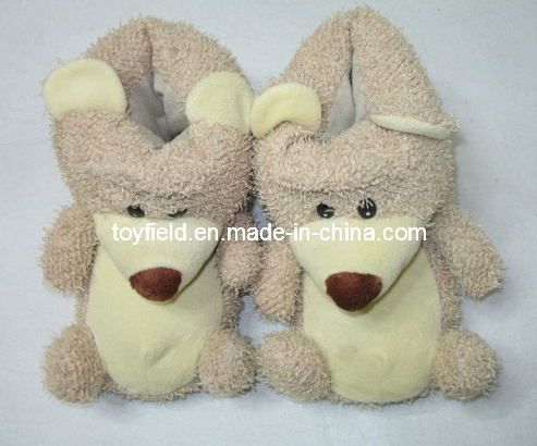 Shoes Plush Slipper Bear Head