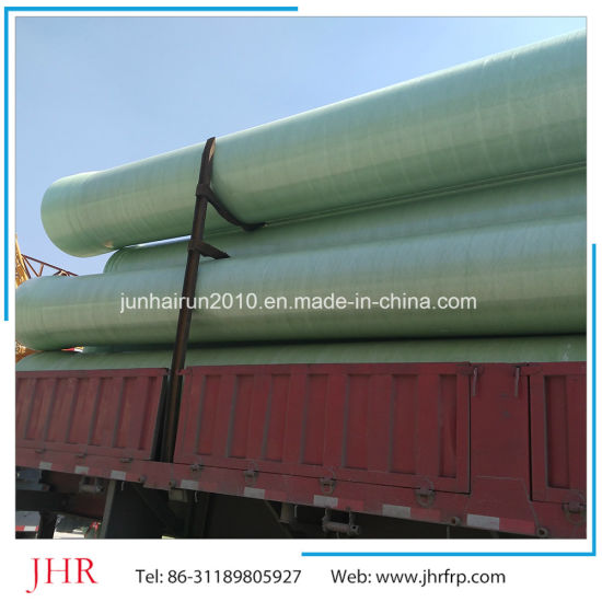 Olimy Fiberglass Sewage Pipe FRP GRP Sewage Pipe for Sale Tranport Pil/Chemical/ Water pictures & photos