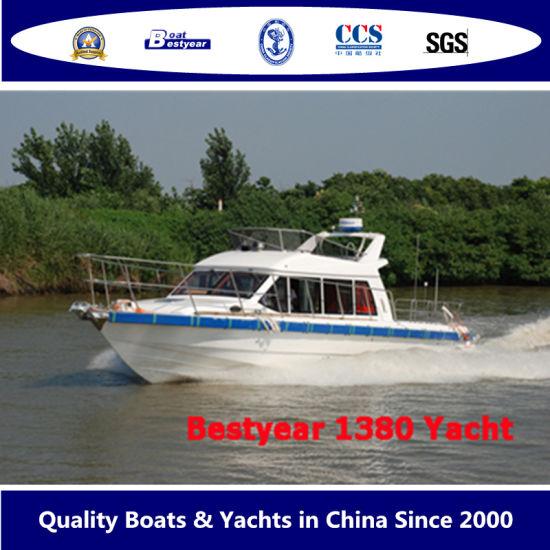 Bestyear 13.8m 45FT Fiberglass High Speed Sightseeing Passenger Yacht Inboard Engine Sterndrive or Outboard Motor