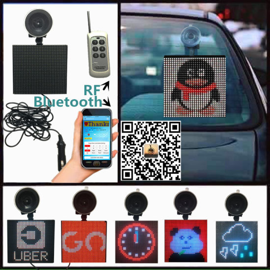 5X5 Inch Smart Bluetooth APP Electronics Programable Suction Cup Rear Window LED Car Display LED Signs