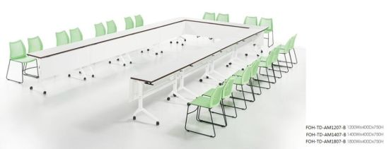 china foldable conference room white table u shape foh td am1207 b