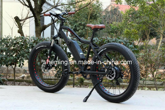 Moped with Pedals 26 Rear Motor Electric Bicycle pictures & photos