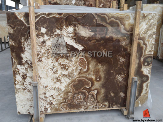 Classical Onyx Slab Brown Onyx for Interior Wall