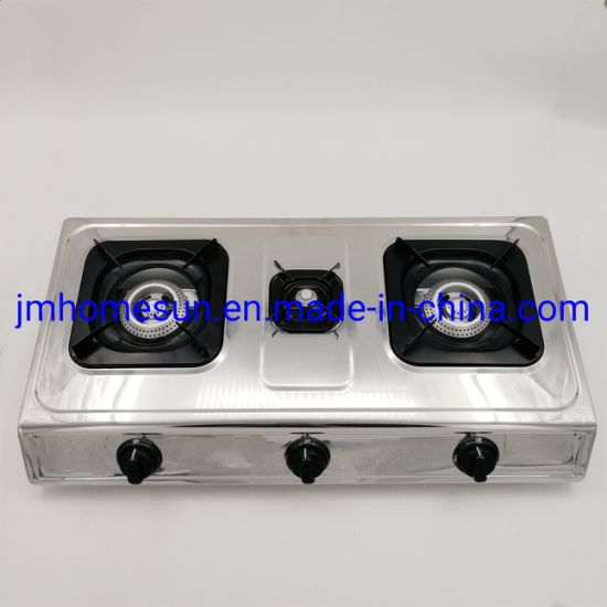 Hot Selling Stainless Steel Cast Iron Beehive Burner Three Burner Gas Stove  Item: HS-304A Gas Stove