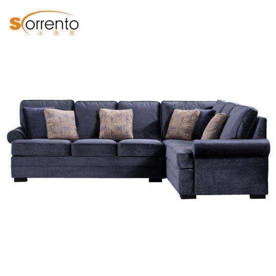 American Countryside Style Velvet Sofa