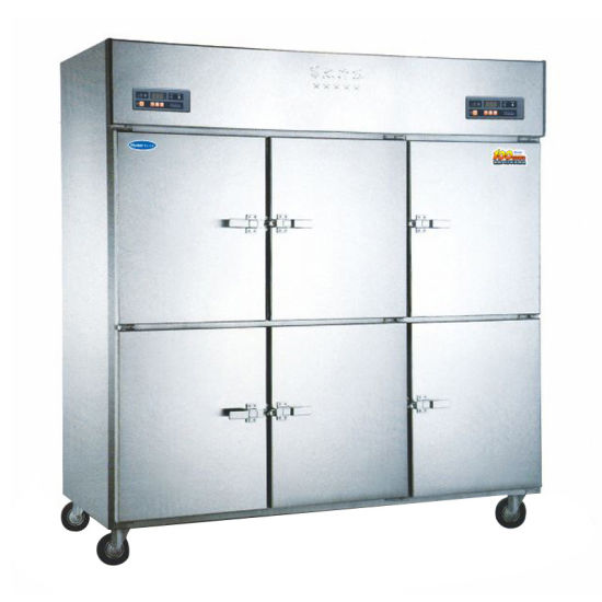 6 Solid Door Upright Freezer Catering Kitchen Food and Wine Drinks Fridge Chiller for Sale