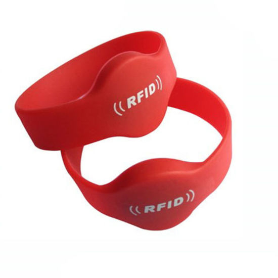 Factory OEM RFID 125kHz, 13.56MHz Rubber NFC Wristband pictures & photos