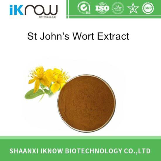 Supply Natural St John′s Wort Extract Powder Hypericin CAS 84082-80-4 pictures & photos
