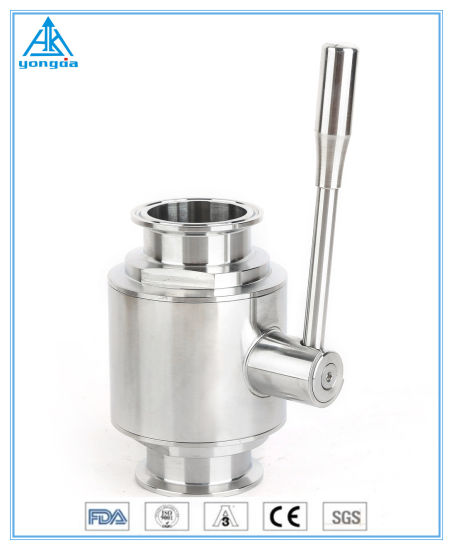 SS304/SS316L Sanitary Hygienic Stainless Steel Butt Clamp Ball Valve