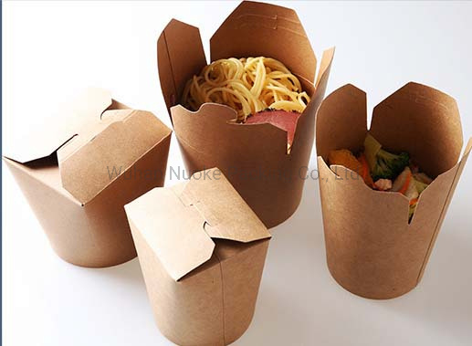 Kraft Paper Disposable Pasta Take Away Food Boxes Noodle Box Lunch Boxes