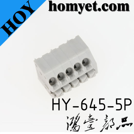 3.5mm Pitch 5pin Large Current PCB Female Terminal Blocks 0.5-1.5mm/AWG20 pictures & photos