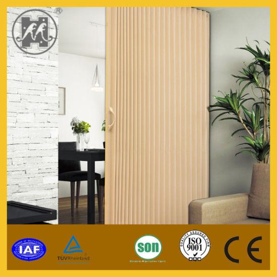 China PVC Folding Door with Glass Door (HM-12) - China Folding Door ...