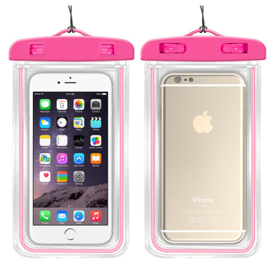 High Quality Gift Fluorescent Universal Plastic Mobile Waterproof Bag Case