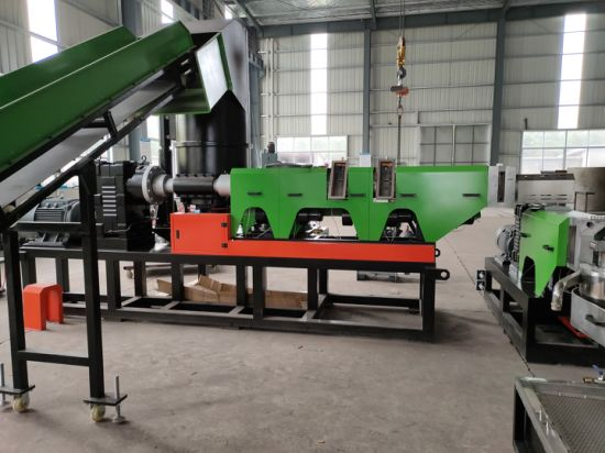 Waste Plastic Film Bags Crushing Washing Granulating Recycling Production Line