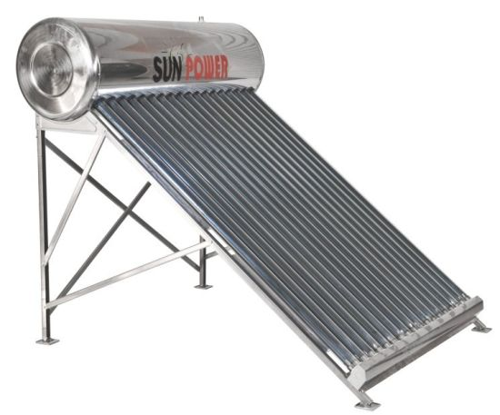 Passive Pressurized Balcony Solar Water Heater (SPR-58/1800-24) SABS CE SRCC Sk ISO Certification Passed