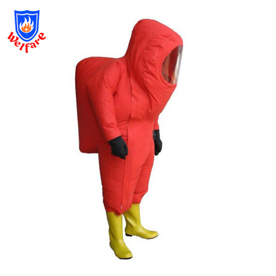 Firemen Emergency Rescue Fully Sealed Anti-Chemical Fire Suit