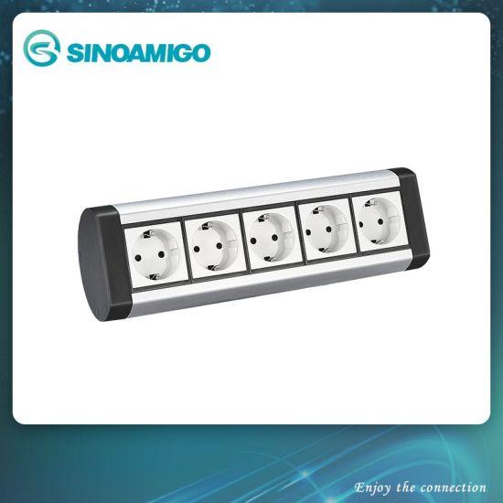 Aluminum Caja Suelo Estanca Power Outlet Table Socket