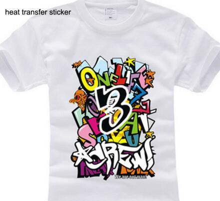 Heat transfer print for garments stickers for t shirts