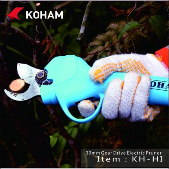 Koham 4hours Battery Charging Time Grape Yard Power Pruning Shears pictures & photos