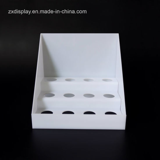 Custom White Acrylic Drug Retail Display Rack for Pharmacy Display