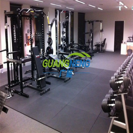 China various colored heavy duty rubber flooring for gym and